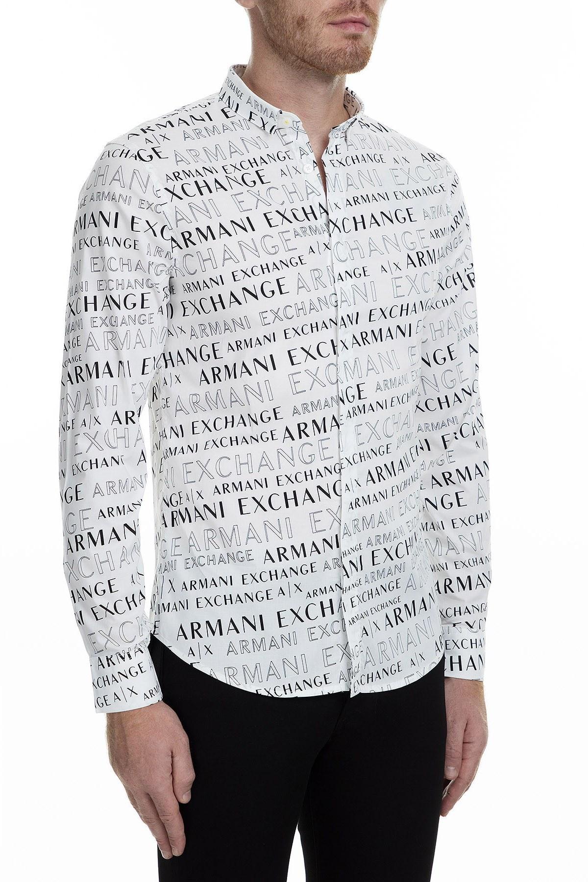 Armani Exchange Erkek Gömlek 6GZC25 ZNEAZ 6125 BEYAZ