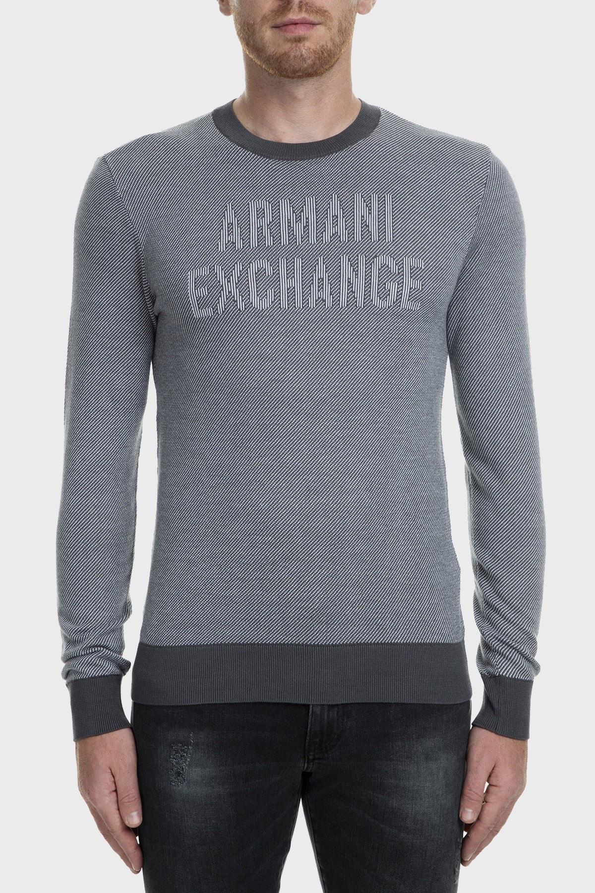 Armani Exchange Erkek Kazak 6GZM1H ZMP5Z 5910 GRİ