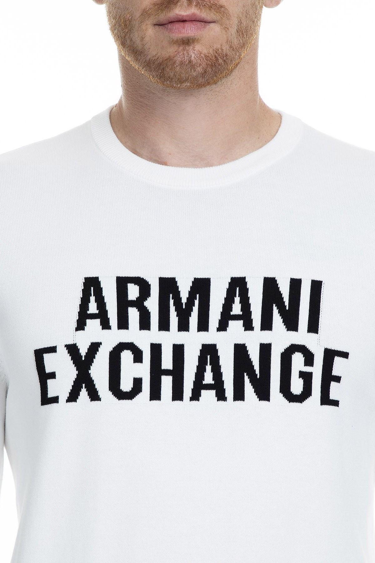 Armani Exchange Erkek Kazak 6GZM3K ZMU5Z 1100 BEYAZ