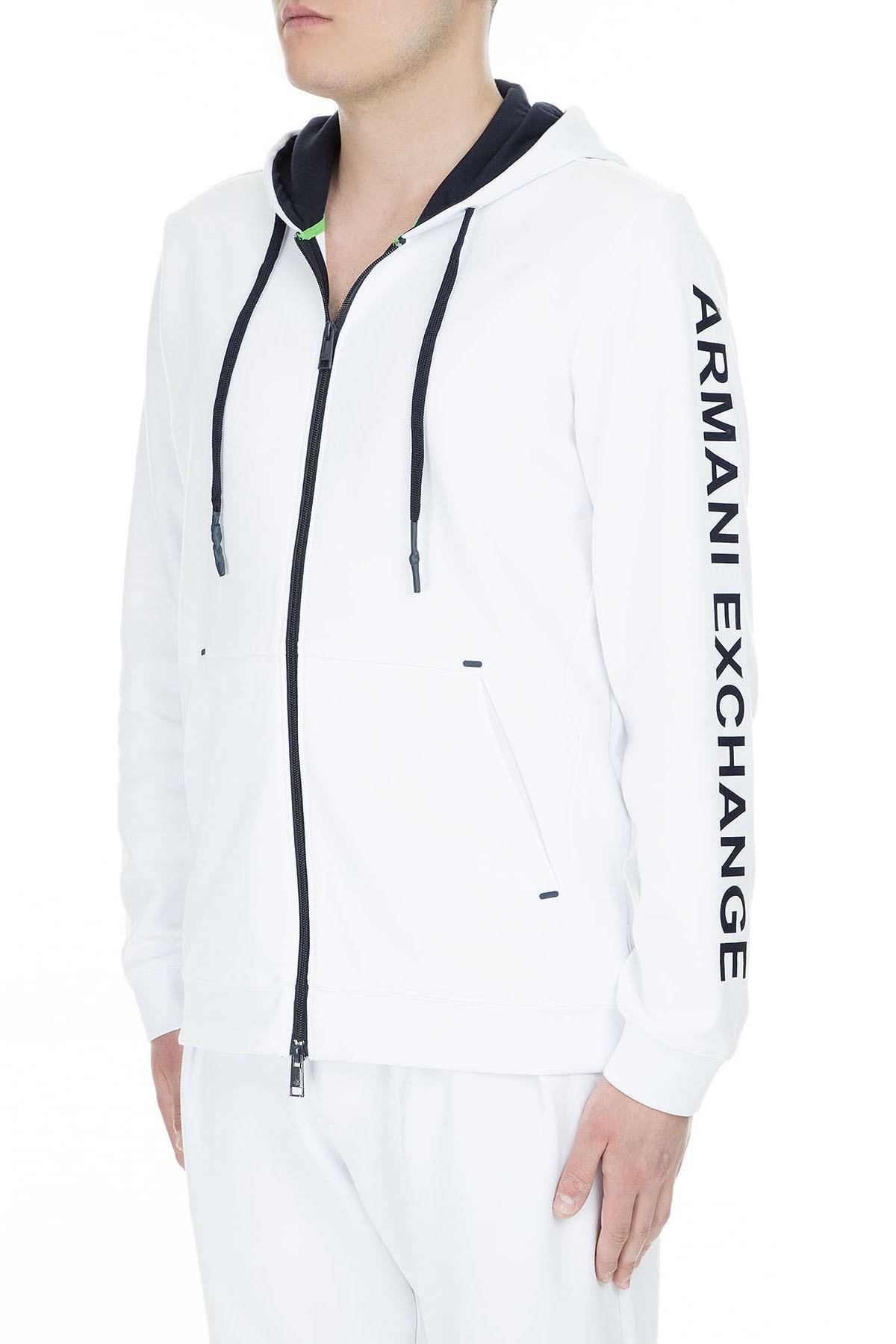 Armani Exchange Erkek Sweat 3GZM83 ZJQ2Z 1100 BEYAZ