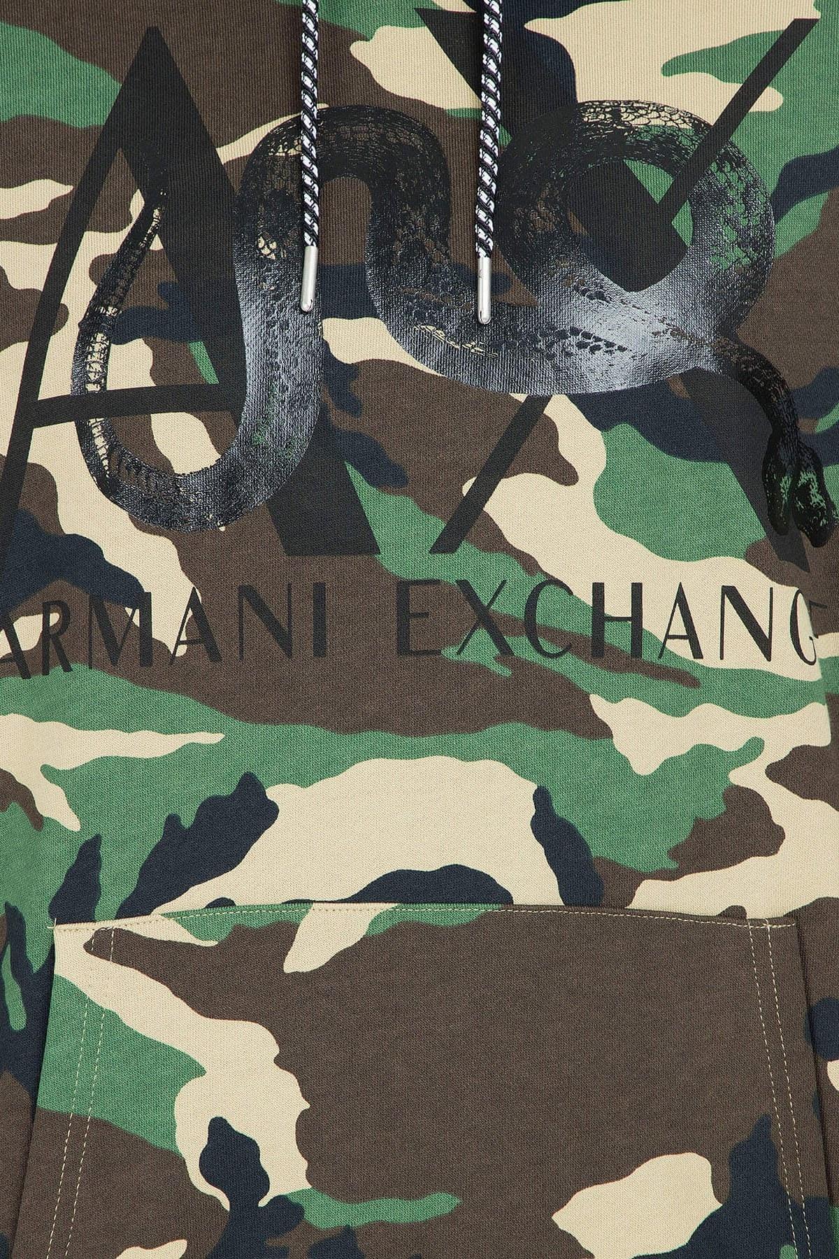 Armani Exchange Erkek Sweat 3GZMGB ZJ2BZ 4841 YEŞİL KAMUFLAJ
