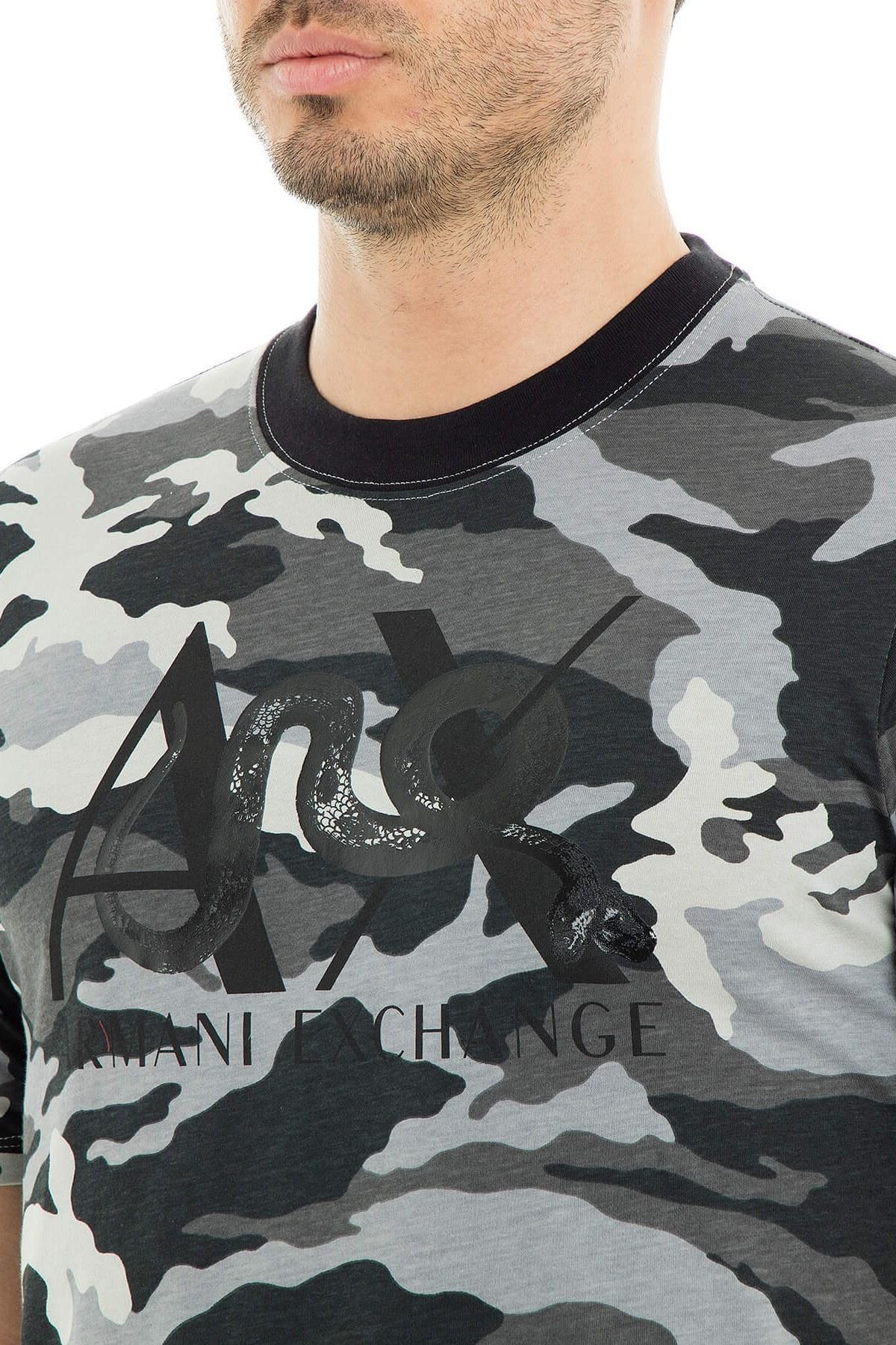 Armani Exchange Erkek T Shirt 3GZTLA ZJH4Z 4964 KAMUFLAJ