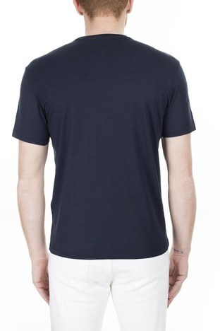 Armani Exchange - Armani Exchange Erkek T Shirt 3HZTAX ZJA5Z 1510 LACİVERT (1)