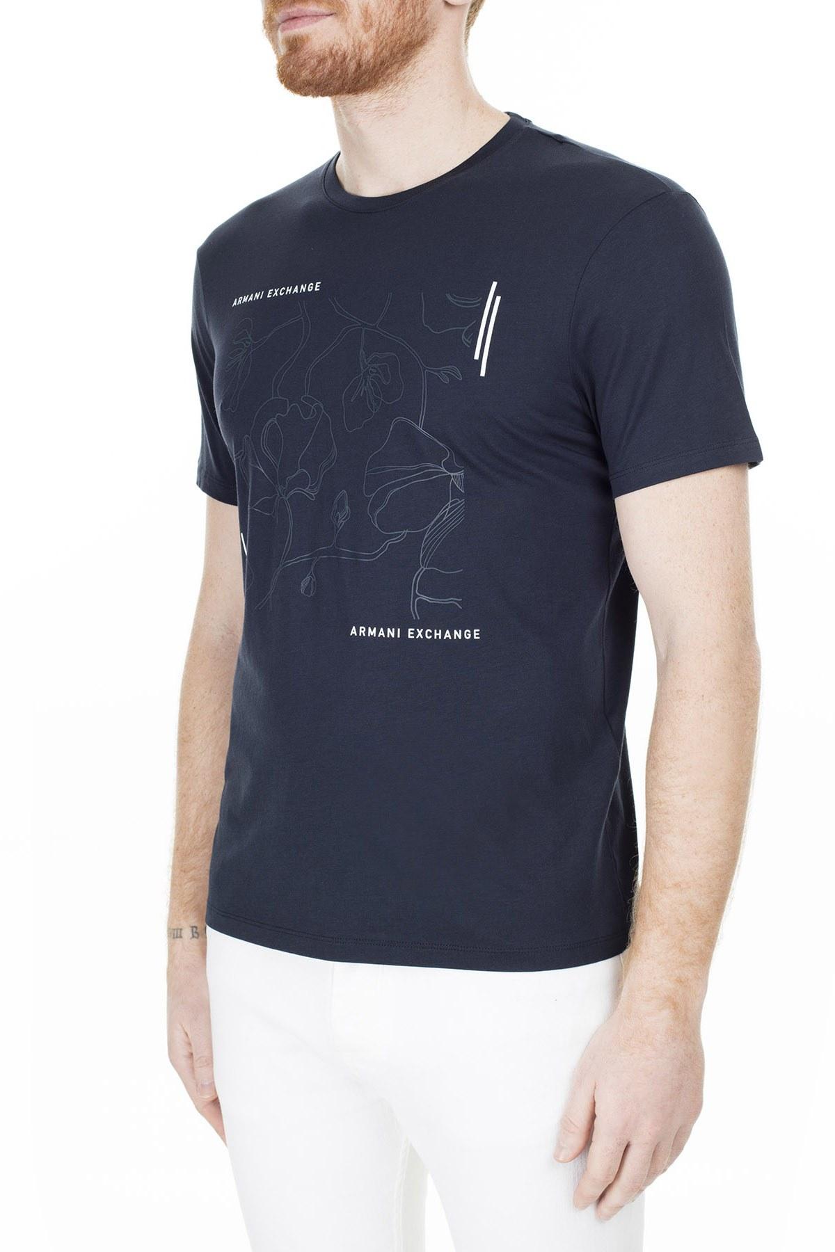 Armani Exchange Erkek T Shirt 3HZTAX ZJA5Z 1510 LACİVERT