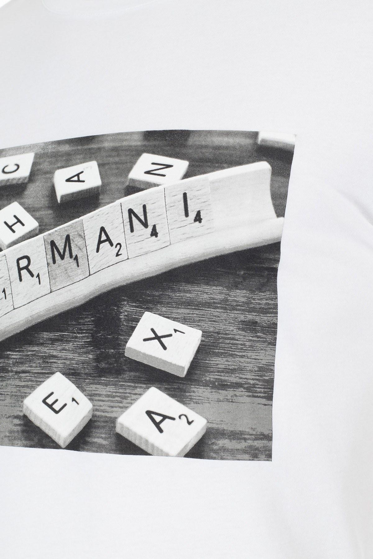 Armani Exchange Erkek T Shirt 3HZTBC ZJ2HZ 1100 BEYAZ