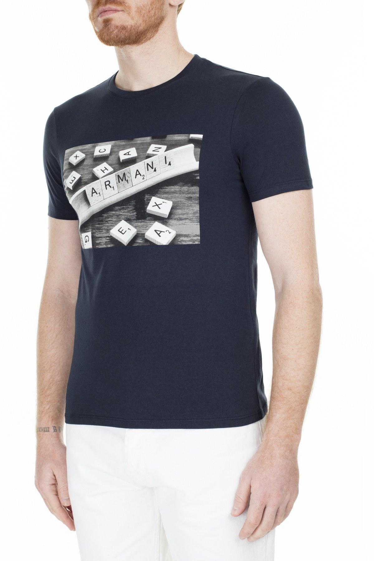 Armani Exchange Erkek T Shirt 3HZTBC ZJ2HZ 1510 LACİVERT