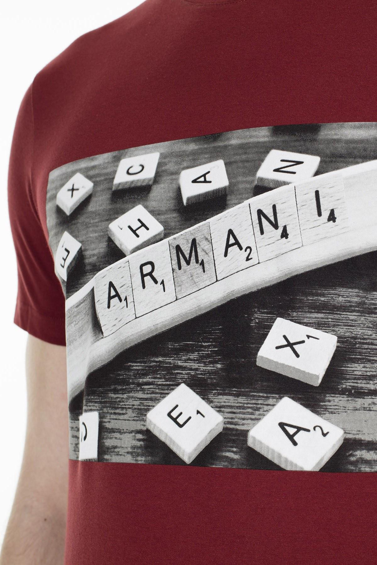 Armani Exchange Erkek T Shirt 3HZTBC ZJ2HZ 1701 KİREMİT