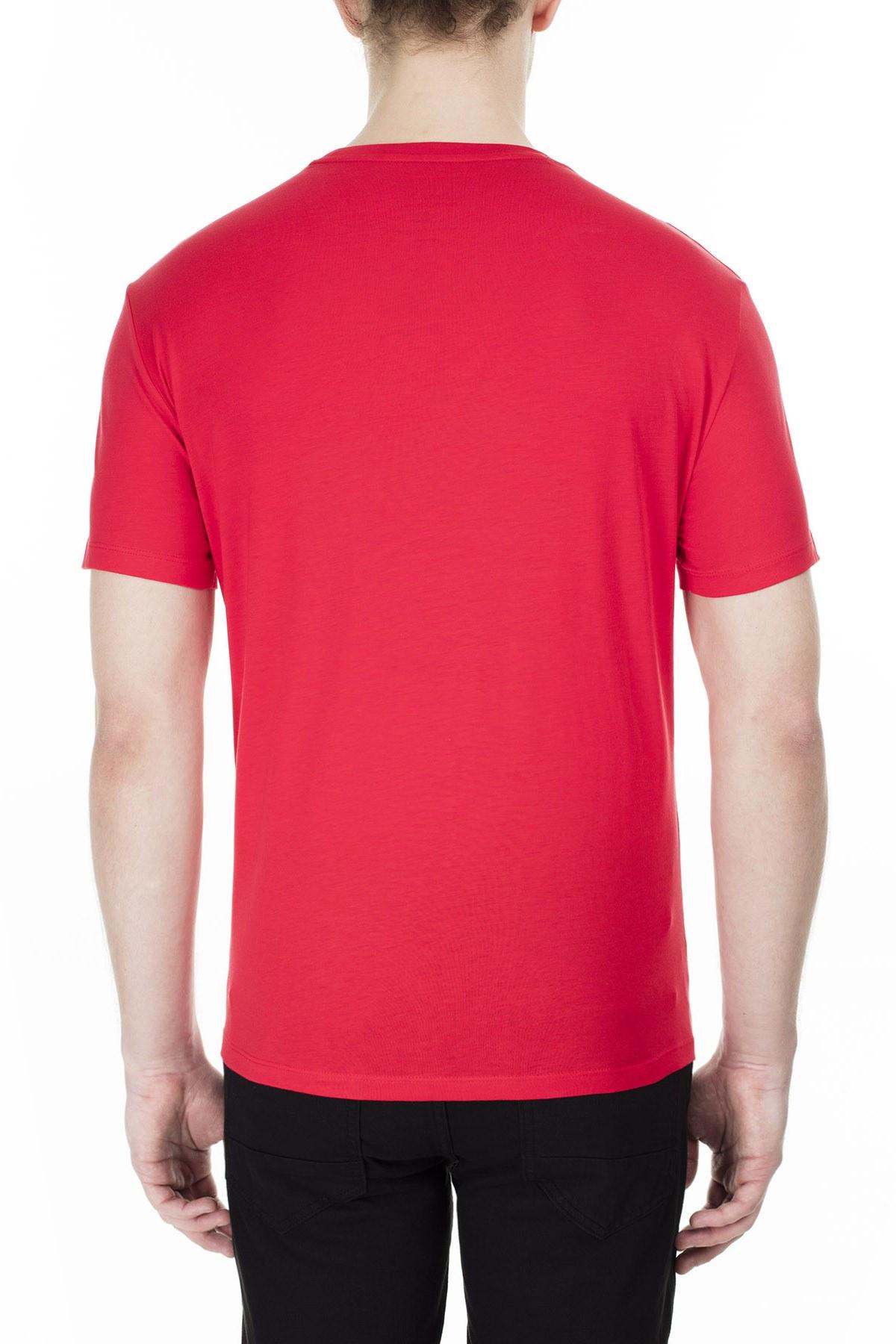 Armani Exchange Erkek T Shirt 3HZTBL ZJA5Z 1401 KIRMIZI