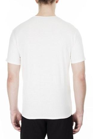 Armani Exchange - Armani Exchange Erkek T Shirt 3HZTBQ ZJN7Z 1100 BEYAZ (1)