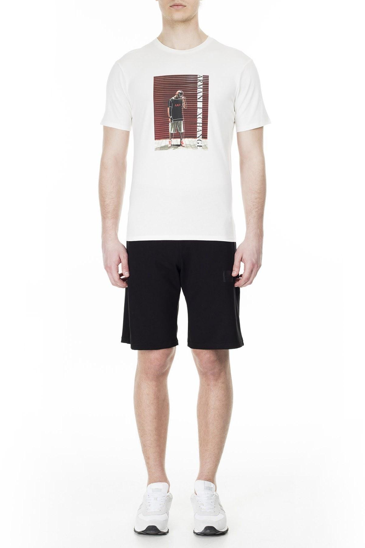 Armani Exchange Erkek T Shirt 3HZTBQ ZJN7Z 1100 BEYAZ