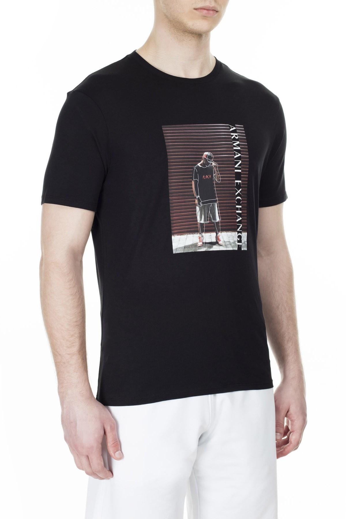 Armani Exchange Erkek T Shirt 3HZTBQ ZJN7Z 1200 SİYAH
