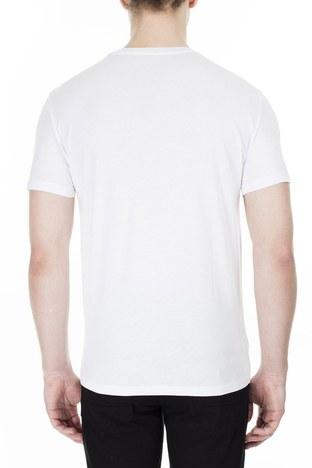 Armani Exchange - Armani Exchange Erkek T Shirt 3HZTBV ZJH4Z 1100 BEYAZ (1)