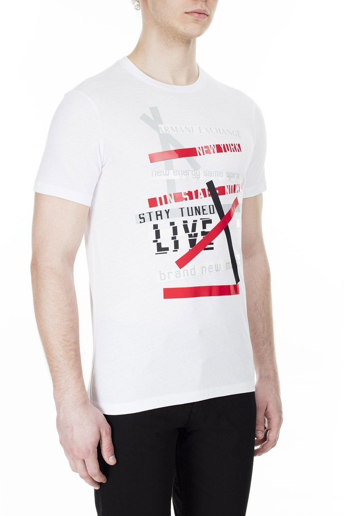 Armani Exchange Erkek T Shirt 3HZTBV ZJH4Z 1100 BEYAZ