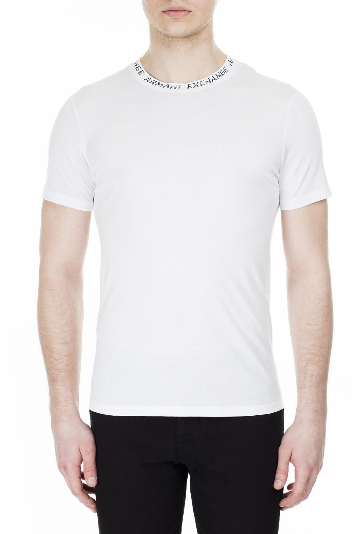 Armani Exchange Erkek T Shirt 3HZTFL ZJA5Z 1100 BEYAZ