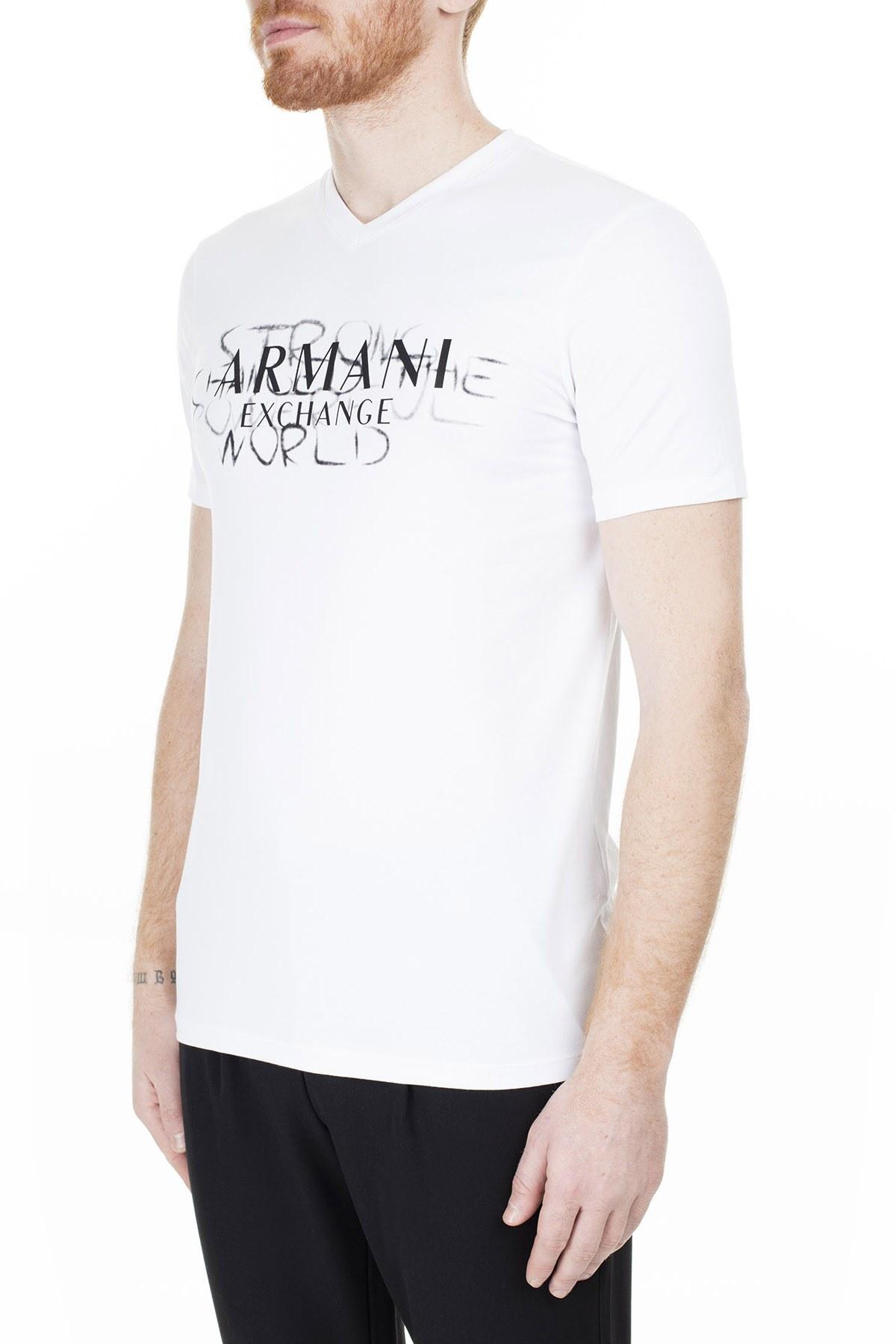 Armani Exchange Erkek T Shirt 3HZTFN ZJE6Z 1100 BEYAZ