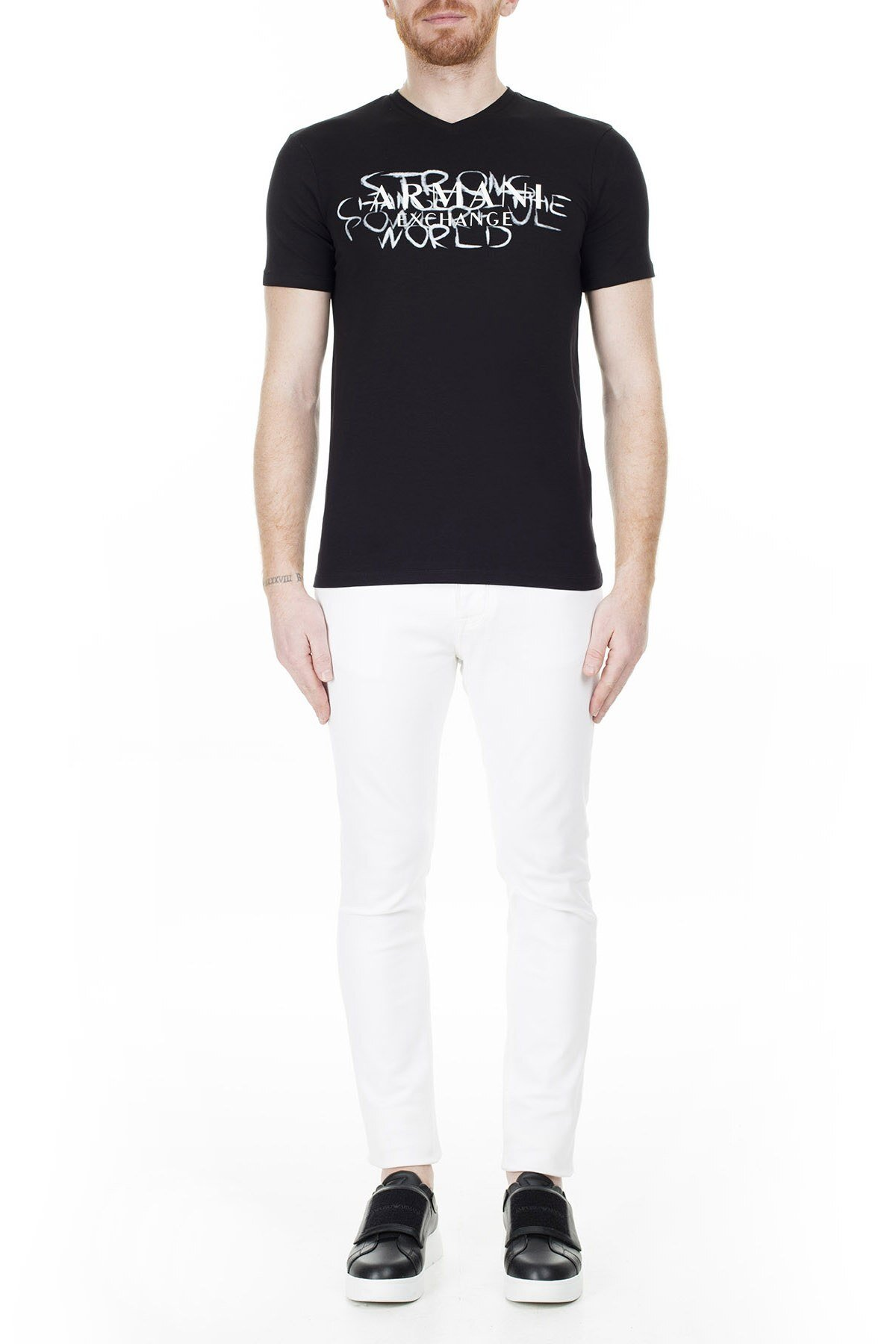 Armani Exchange Erkek T Shirt 3HZTFN ZJE6Z 1200 SİYAH