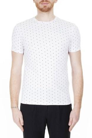 Armani Exchange - Armani Exchange Erkek T Shirt 3HZTFR ZJH4Z 7129 BEYAZ