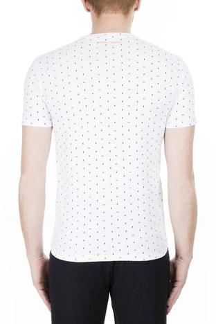 Armani Exchange - Armani Exchange Erkek T Shirt 3HZTFR ZJH4Z 7129 BEYAZ (1)