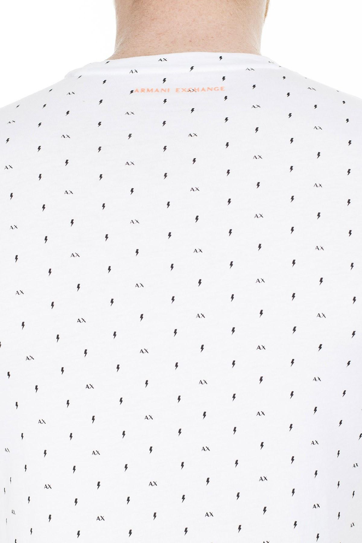 Armani Exchange Erkek T Shirt 3HZTFR ZJH4Z 7129 BEYAZ