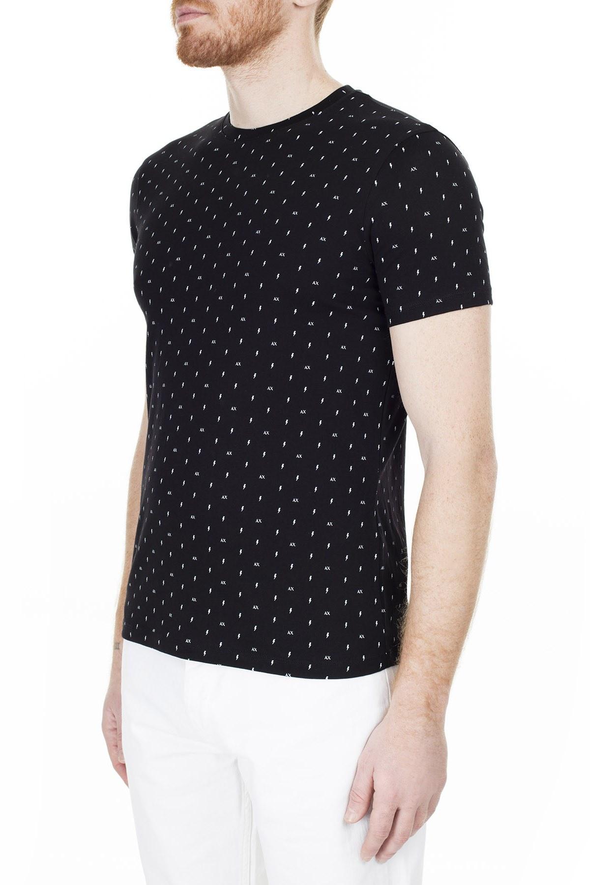 Armani Exchange Erkek T Shirt 3HZTFR ZJH4Z 7216 SİYAH