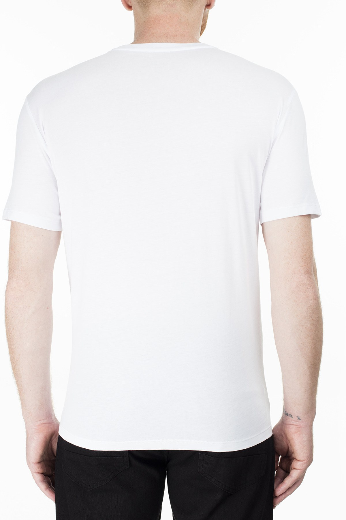 Armani Exchange Erkek T Shirt 3HZTGF ZJH4Z 1100 BEYAZ