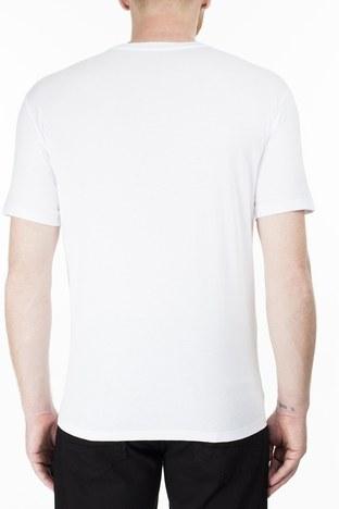 Armani Exchange - Armani Exchange Erkek T Shirt 3HZTGF ZJH4Z 1100 BEYAZ (1)