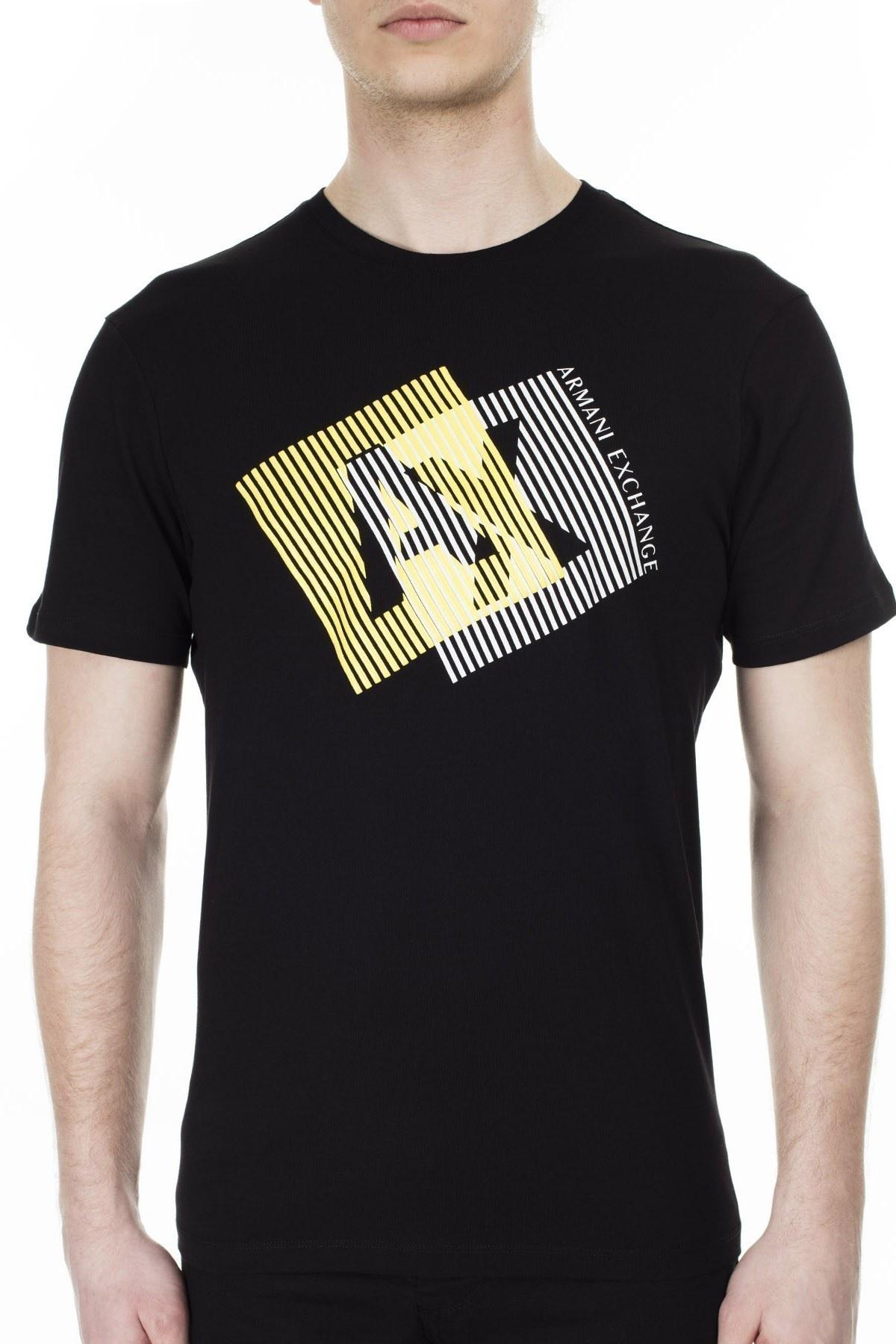 Armani Exchange Erkek T Shirt 3HZTGF ZJH4Z 1200 SİYAH