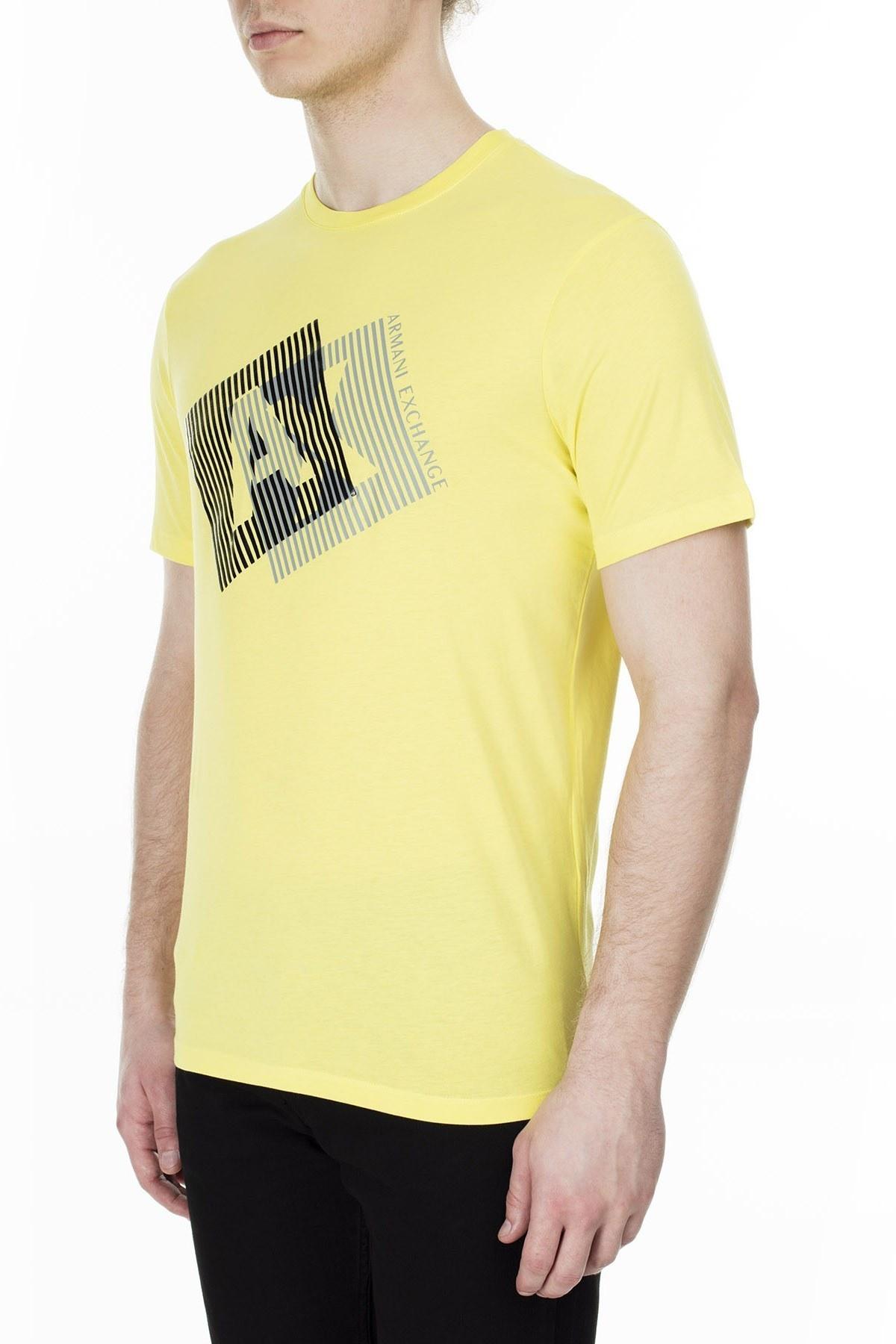 Armani Exchange Erkek T Shirt 3HZTGF ZJH4Z 1654 LİMON