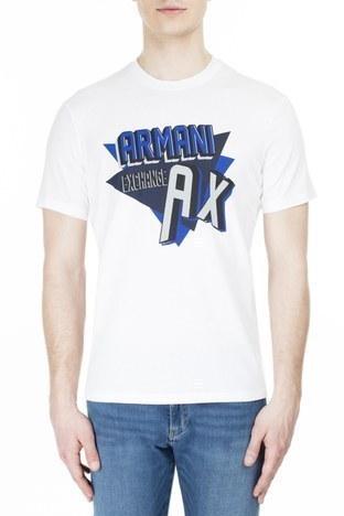 Armani Exchange - Armani Exchange Erkek T Shirt 3HZTHM ZJ5EZ 1100 BEYAZ