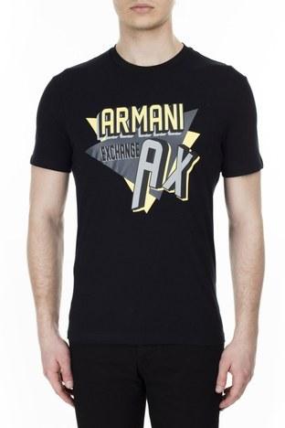 Armani Exchange - Armani Exchange Erkek T Shirt 3HZTHM ZJ5EZ 1200 SİYAH