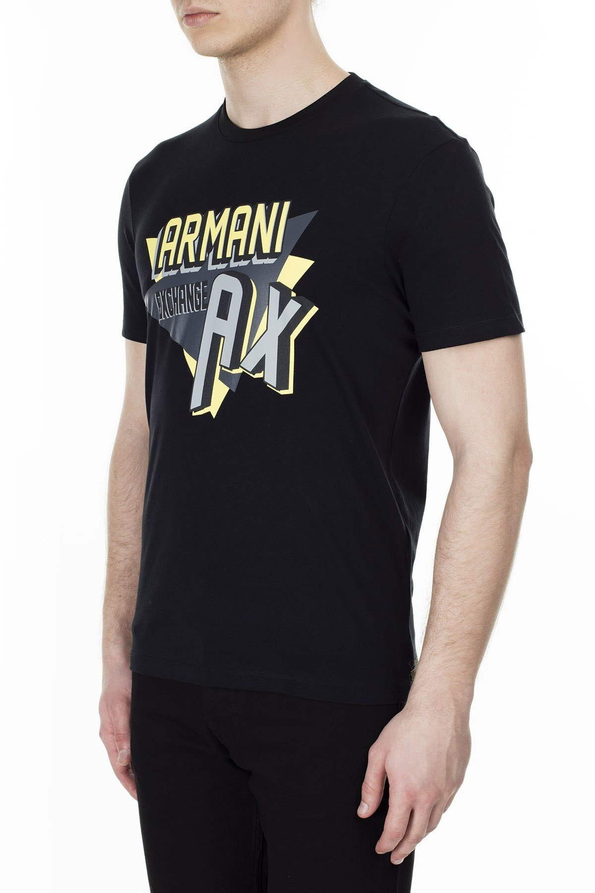 Armani Exchange Erkek T Shirt 3HZTHM ZJ5EZ 1200 SİYAH