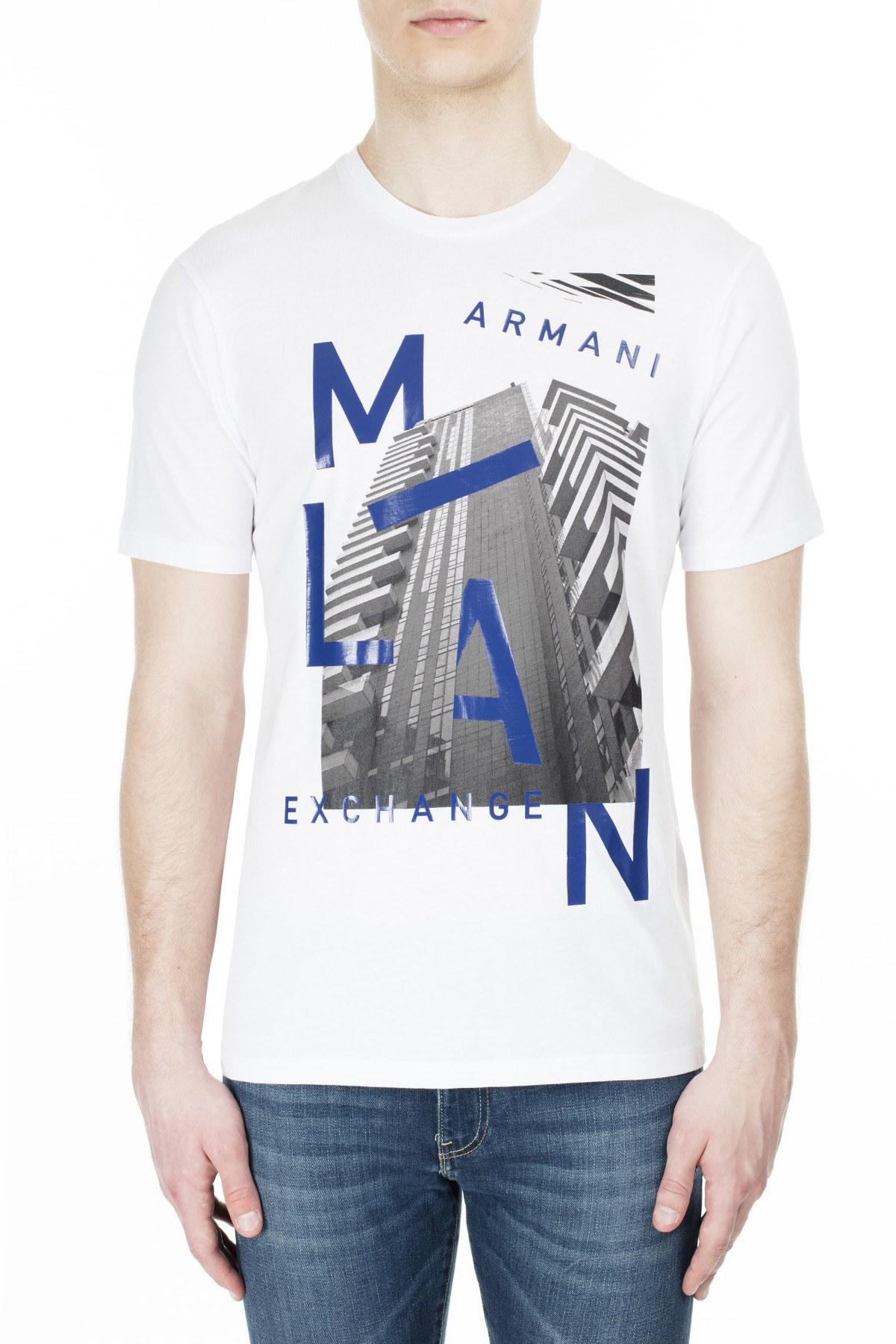 Armani Exchange Erkek T Shirt 3HZTHP ZJH4Z 1100 BEYAZ
