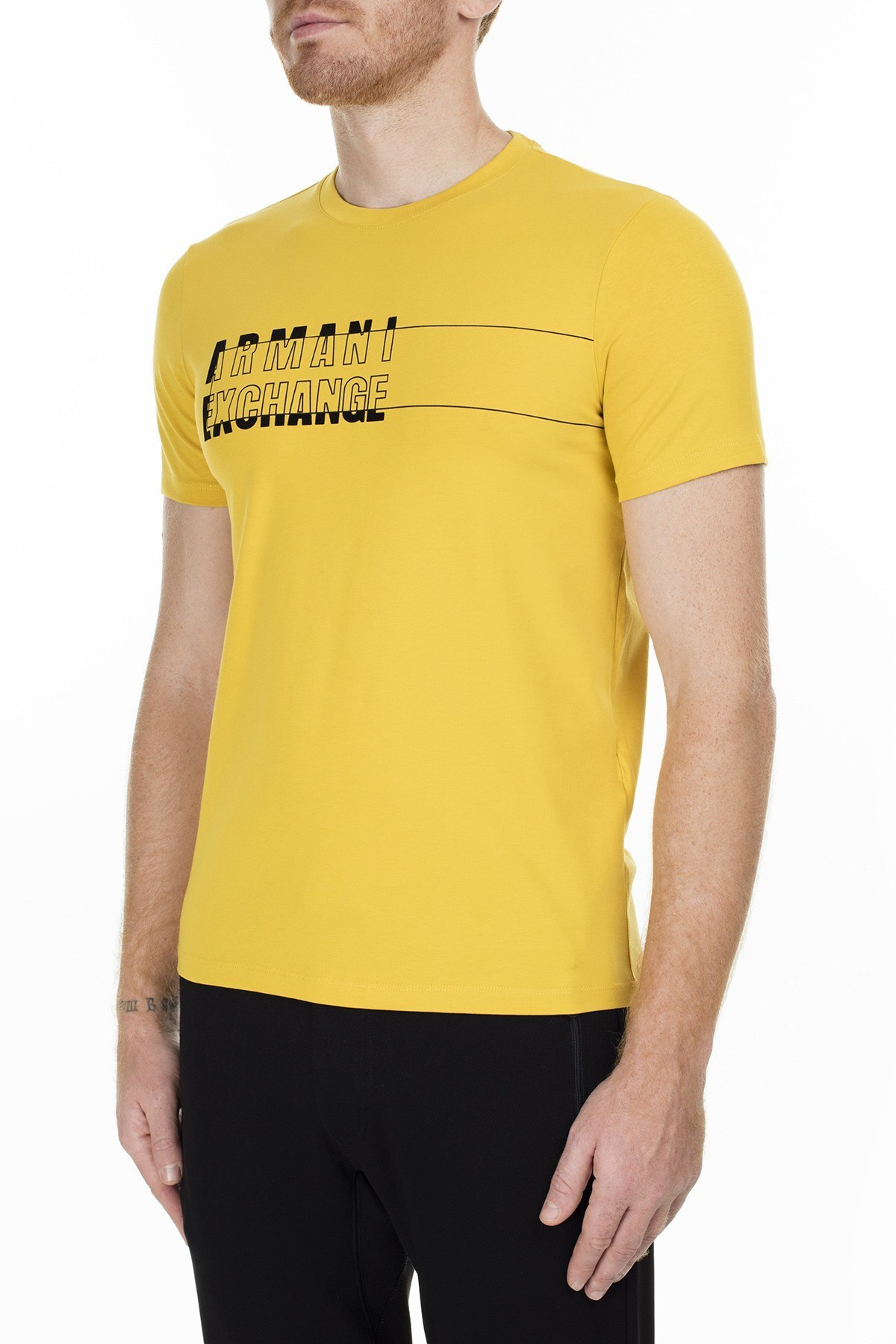 Armani Exchange Erkek T Shirt 6GZTAE ZJS1Z 1650 SARI