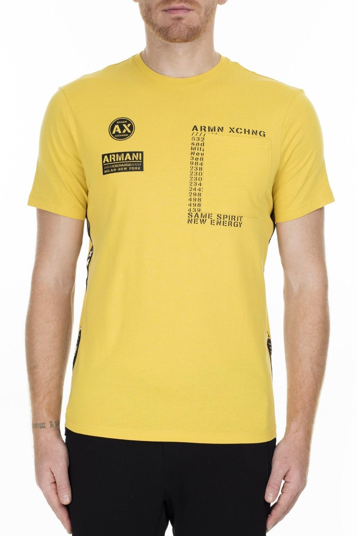 Armani Exchange Erkek T Shirt 6GZTBL ZJH4Z 1650 SARI