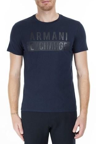 Armani Exchange - Armani Exchange Erkek T Shirt 6GZTBS ZJV5Z 1510 LACİVERT