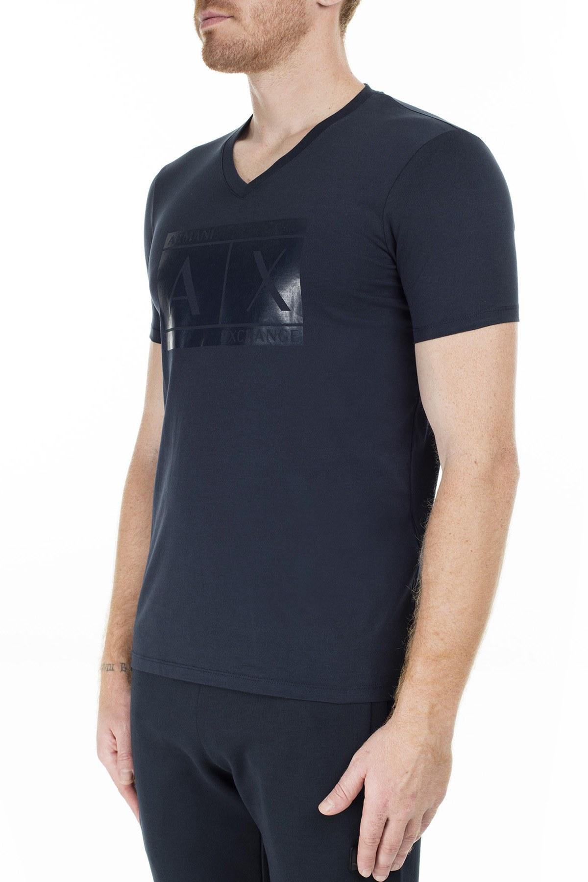 Armani Exchange Erkek T Shirt 6GZTBT ZJ6AZ 1510 LACİVERT