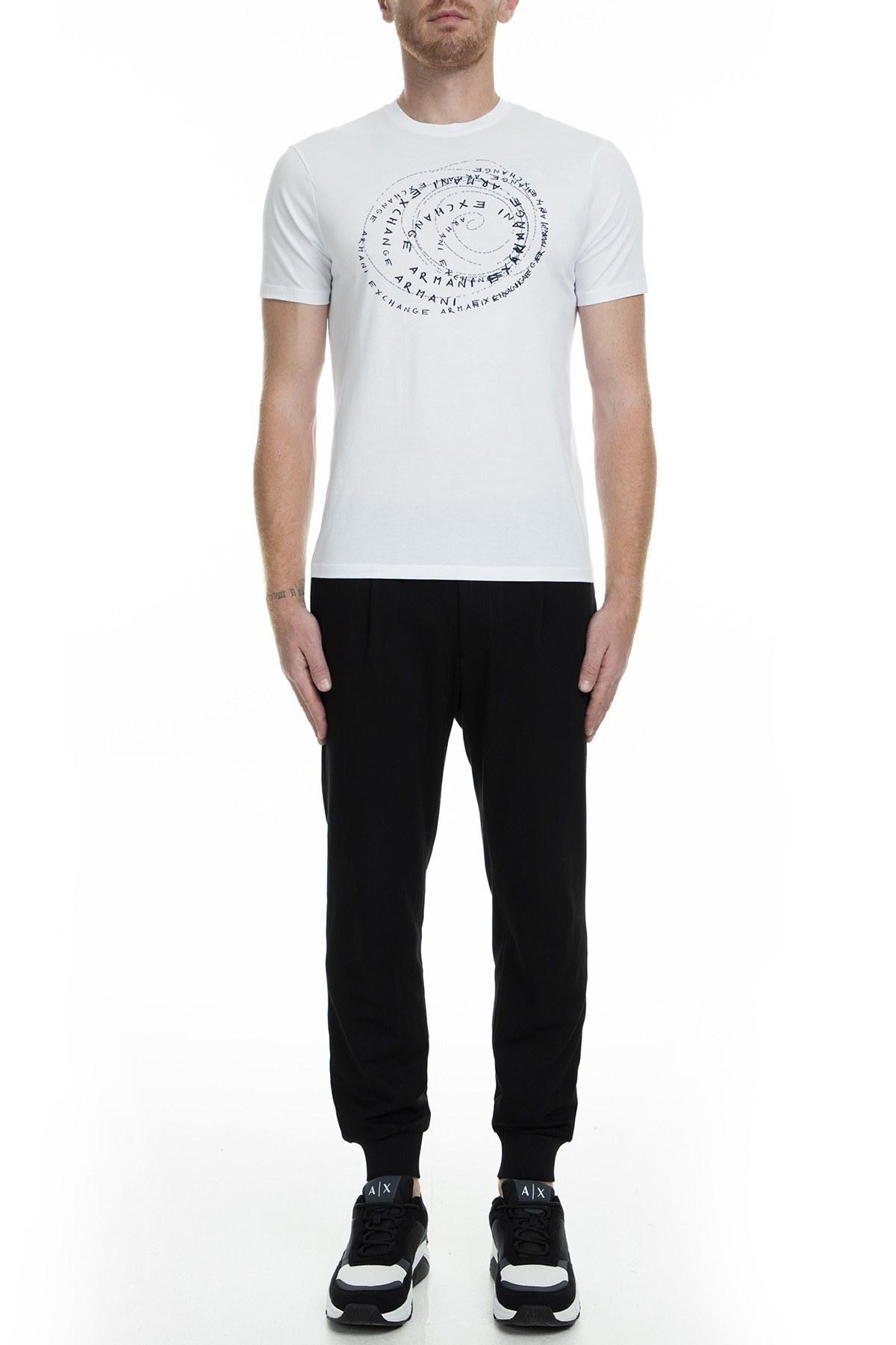 Armani Exchange Erkek T Shirt 6GZTDX ZJA5Z 1100 BEYAZ