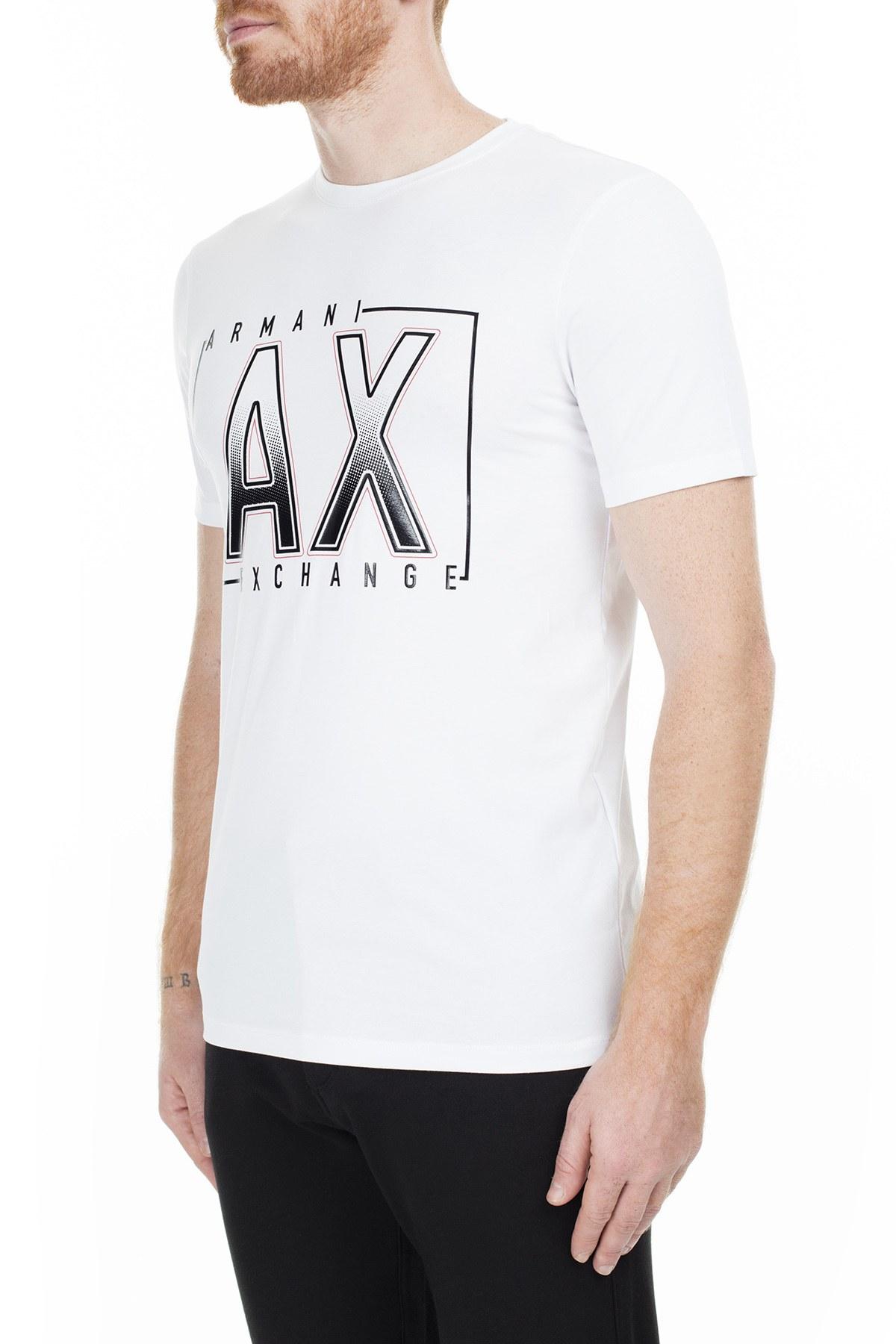 Armani Exchange Erkek T Shirt 6GZTEJ ZJE6Z 1100 BEYAZ