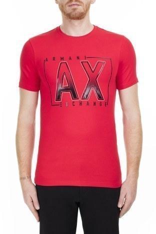 Armani Exchange - Armani Exchange Erkek T Shirt 6GZTEJ ZJE6Z 1400 KIRMIZI