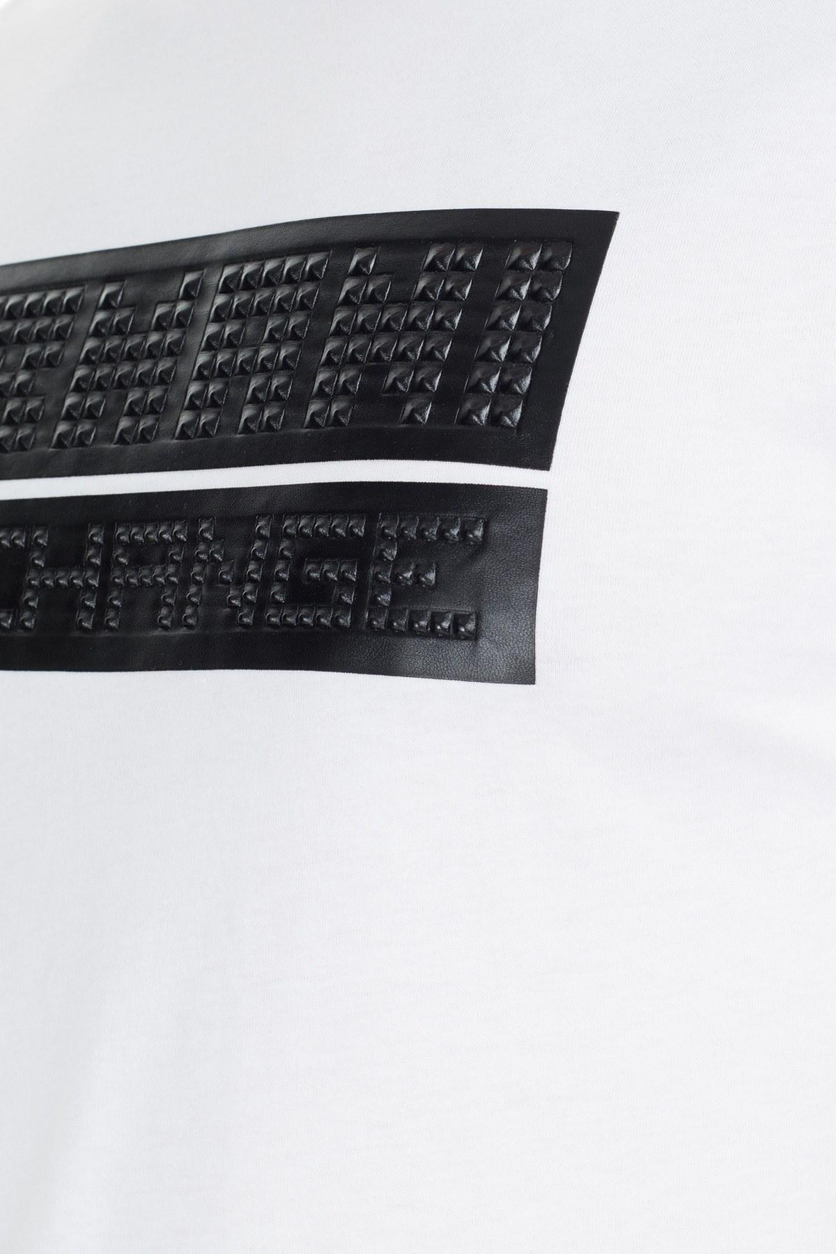 Armani Exchange Erkek T Shirt 6GZTES ZJH4Z 1100 BEYAZ