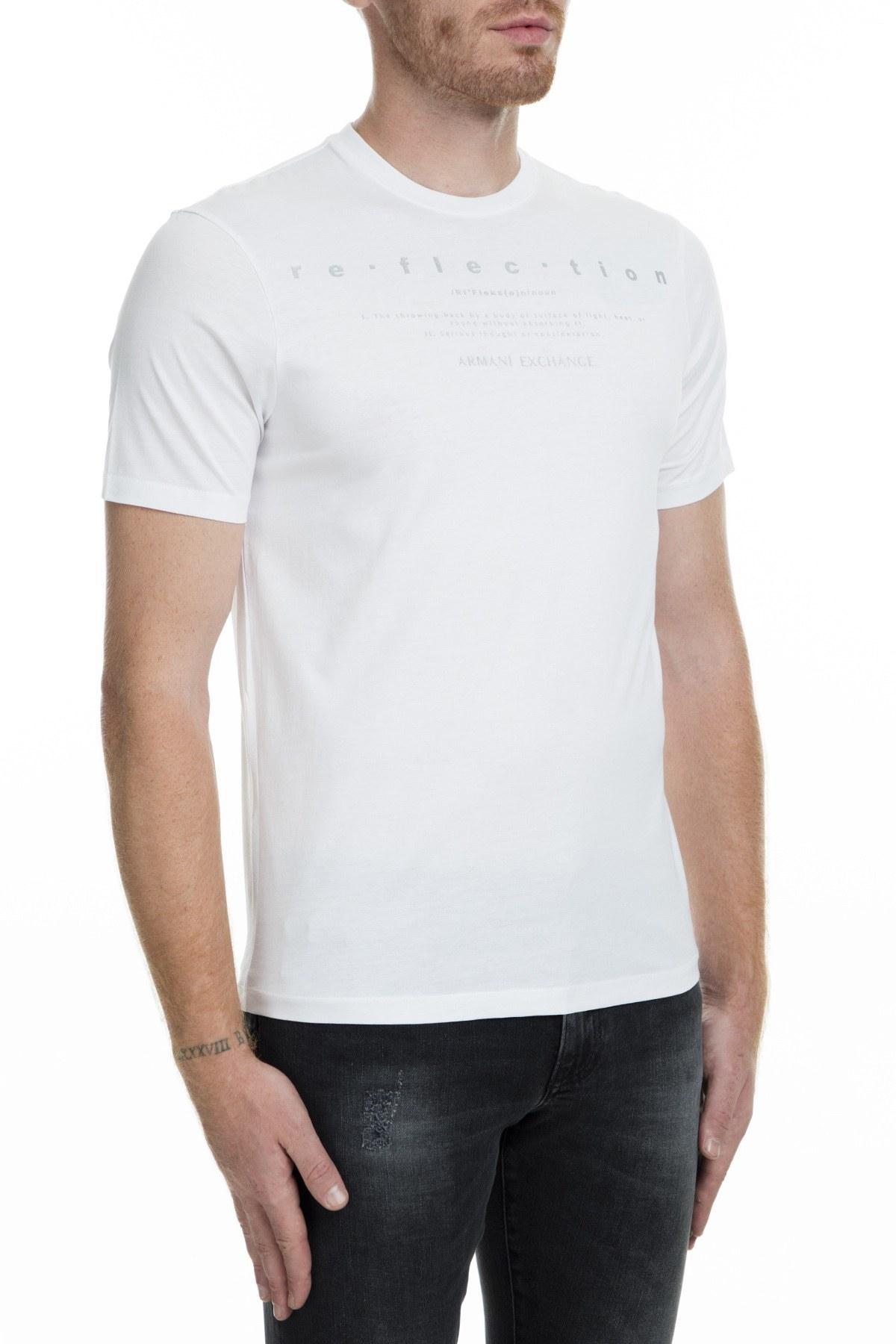Armani Exchange Erkek T Shirt 6GZTGE ZJ9AZ 1100 BEYAZ