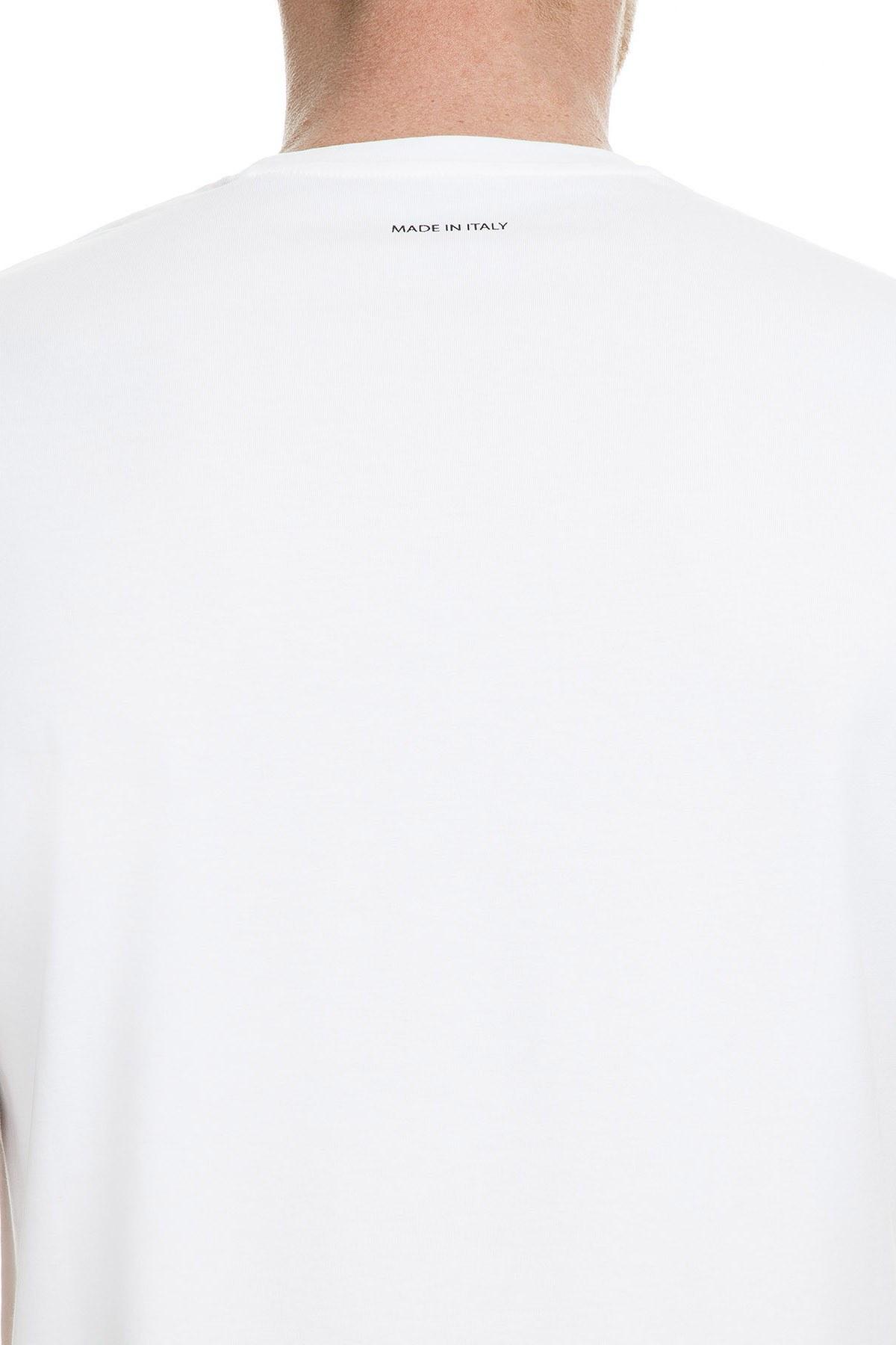 Armani Exchange Erkek T Shirt 6GZTMI ZJZ6Z 1100 BEYAZ