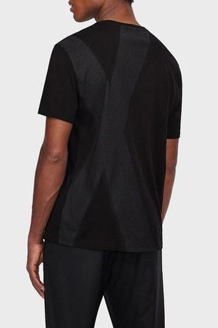 Armani Exchange - Armani Exchange % 100 Pamuk Bisiklet Yaka Regular Fit Erkek T Shirt 6KZTFC ZJH4Z 1200 SİYAH (1)