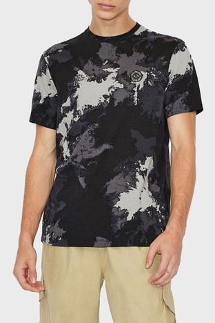 Armani Exchange - Armani Exchange Erkek T Shirt 6KZTGF ZJH4Z 2208 SİYAH-GRİ