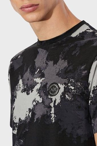 Armani Exchange Erkek T Shirt 6KZTGF ZJH4Z 2208 SİYAH-GRİ