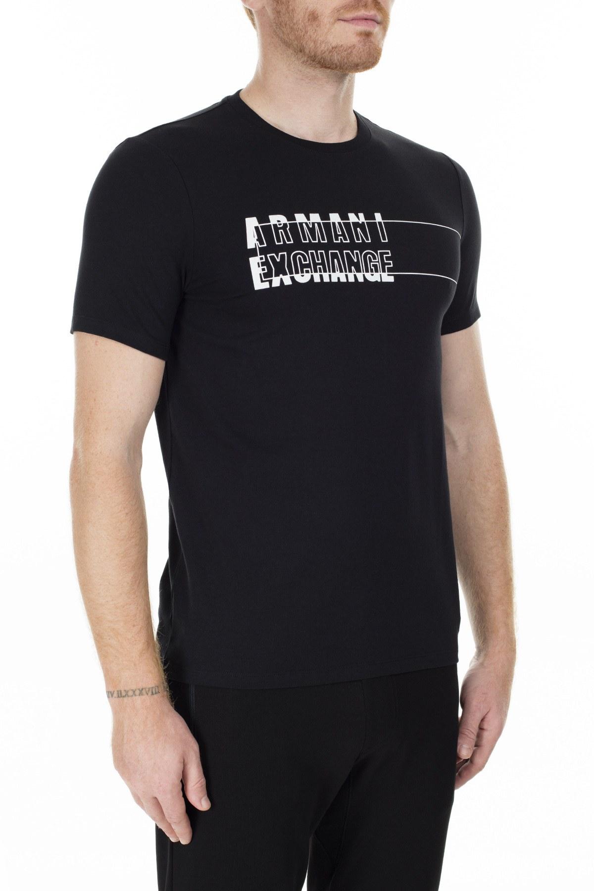 Armani Exchange Erkek T Shirt S 6GZTAE ZJS1Z 1200 SİYAH