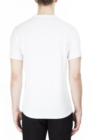 Armani Exchange - Armani Exchange Erkek T Shirt S 6GZTAW ZJE6Z 1100 BEYAZ (1)