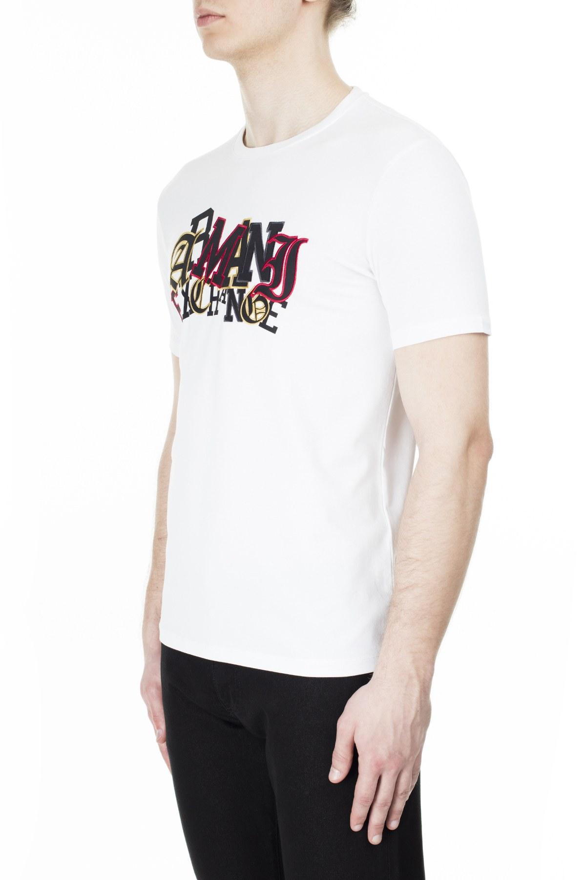 Armani Exchange Erkek T Shirt S 6GZTAW ZJE6Z 1100 BEYAZ
