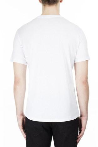 Armani Exchange - Armani Exchange Erkek T Shirt S 6GZTAX ZJH4Z 1100 BEYAZ (1)