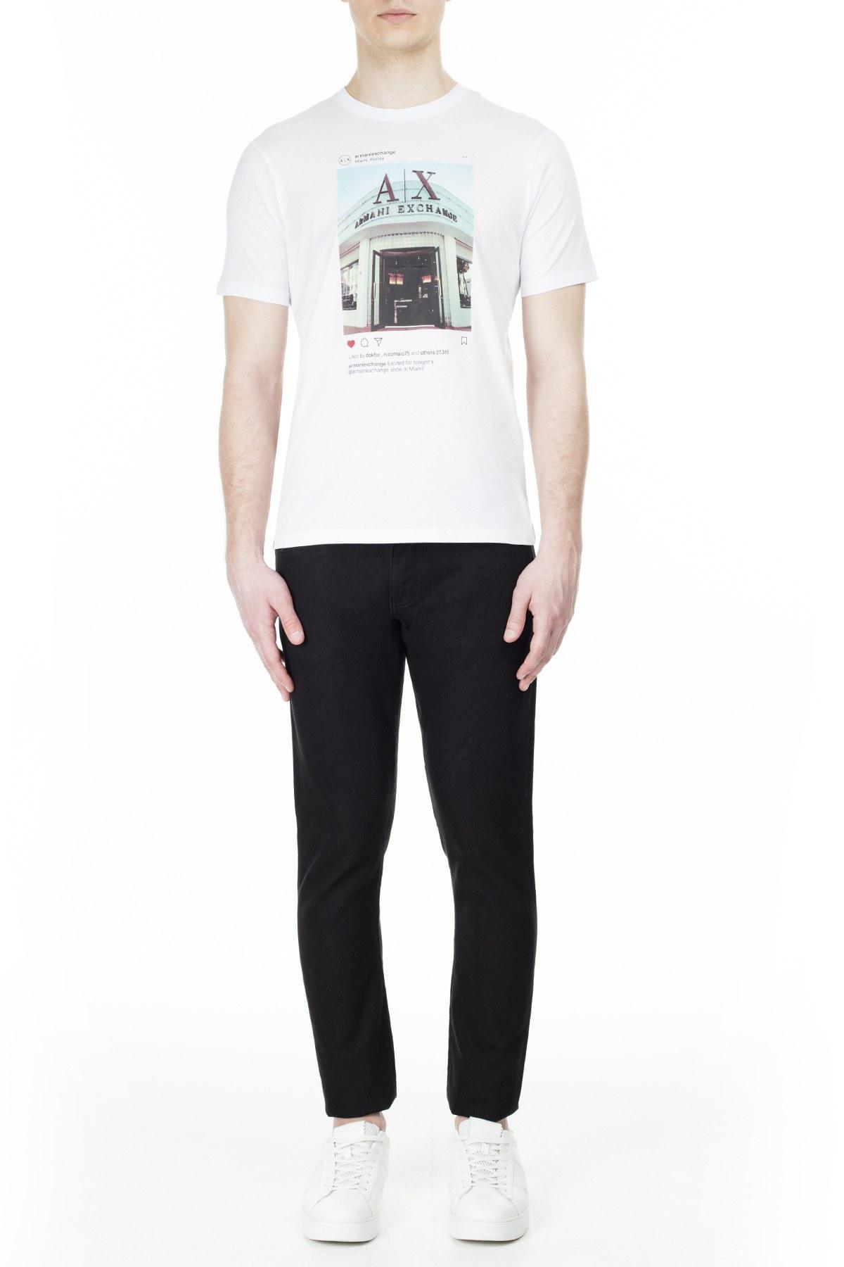 Armani Exchange Erkek T Shirt S 6GZTAX ZJH4Z 1100 BEYAZ